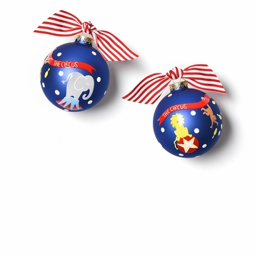 Happy Everything Circus 100MM Glass Ornament
