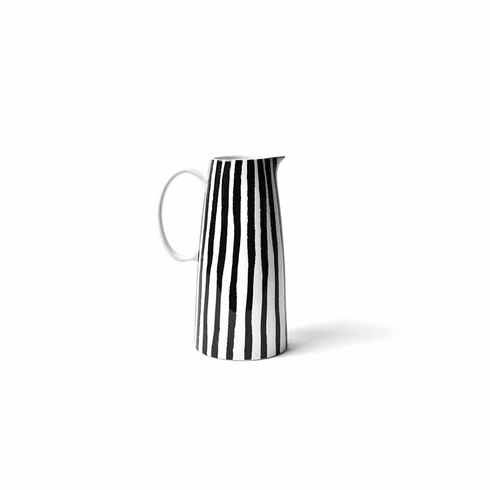 Happy Everything Deco Pedestal Pitcher Brushed Line
