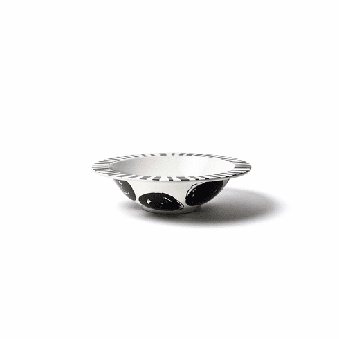 Happy Everything Deco Rimmed 11 Bowl Brushed Dot