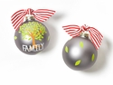 Happy Everything Family Tree Glass Ornament