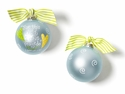 Happy Everything For This Child Blue Glass Ornament