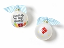 Happy Everything Friends Are The Best Presents Glass Ornament