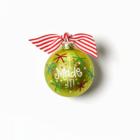 Happy Everything Glass Ornament - I Made It!