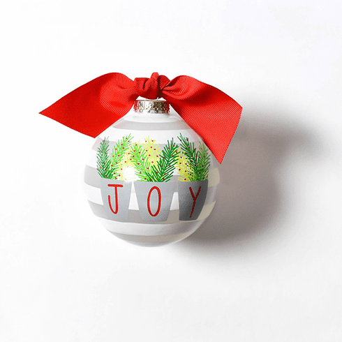 Happy Everything Glass Ornament - Joy Branches