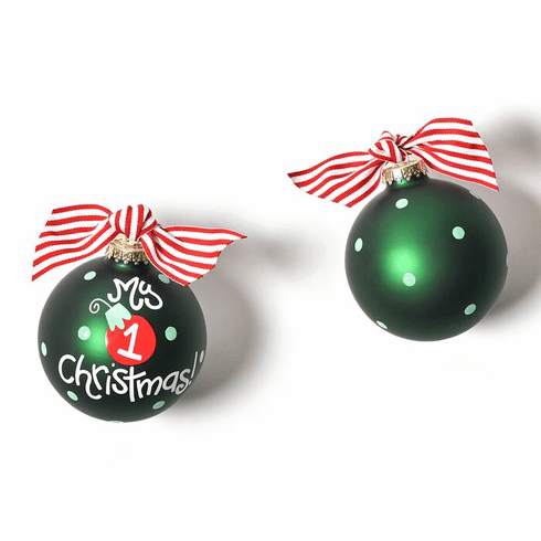 Happy Everything Glass Ornament - My First Christmas Ornamet