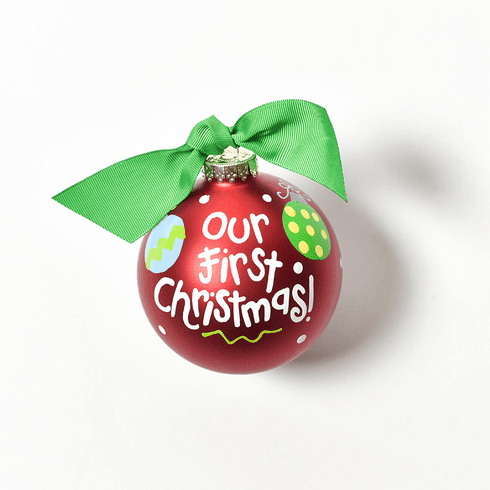 Happy Everything Glass Ornament - Our First Christmas