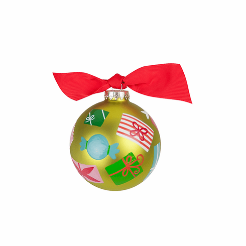 Happy Everything Glass Ornament - Wrapped Gifts