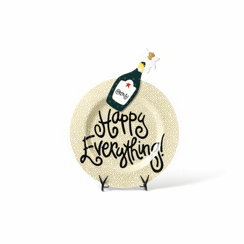 Happy Everything Gold Small Dot Big Platter with Champagne Attachment