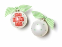 Happy Everything Happy Birthday Jesus Banner 100MM Glass Ornament