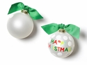 Happy Everything Happy Christmas Dot 100MM Glass Ornament
