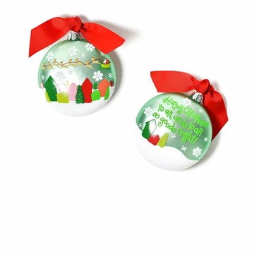 Happy Everything Happy Christmas to All! 90MM Glass Ornament