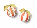 Happy Everything Happy Everything! Persimmon Color Block 100MM Glass Ornament