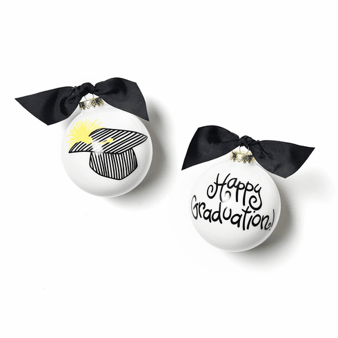Happy Everything Happy Graduation 100MM Glass Ornament