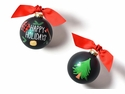 Happy Everything Happy Holidays Cutting Down the Tree 100MM Glass Ornament