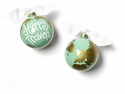 Happy Everything Happy Travels 100MM Glass Ornament