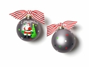 Happy Everything I Saw Santa 100MM Glass Ornament