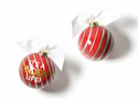 Happy Everything Its a Wonderful Life 100MM Glass Ornament