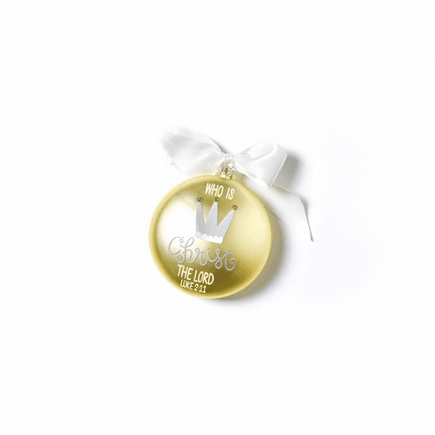 Happy Everything Luke 2:11 120MM Glass Ornament
