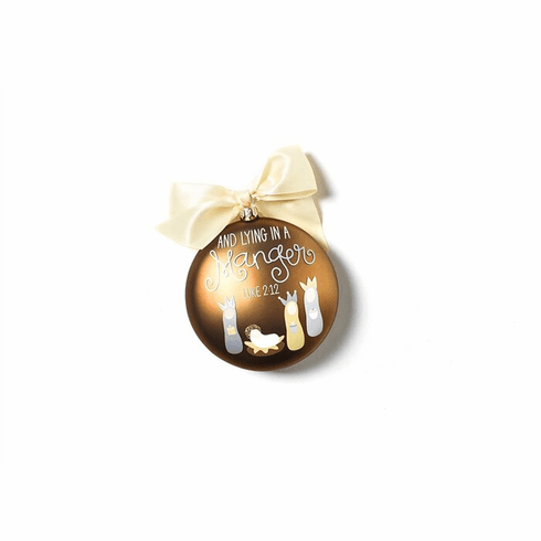 Happy Everything Luke 2:12 120MM Glass Ornament