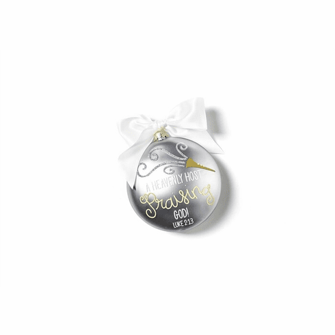 Happy Everything Luke 2:13 120MM Glass Ornament