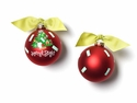 Happy Everything Merry & Bright Vintage Tree 100MM Glass Ornament