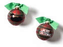 Happy Everything Merry Christmas Duck Decoy 100MM Glass Ornament