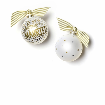 Happy Everything Merry & Married 100MM Glass Ornament