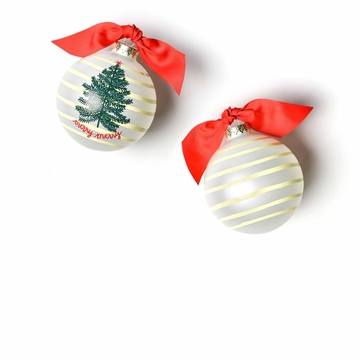 Happy Everything Merry Tree 100MM Glass Ornament