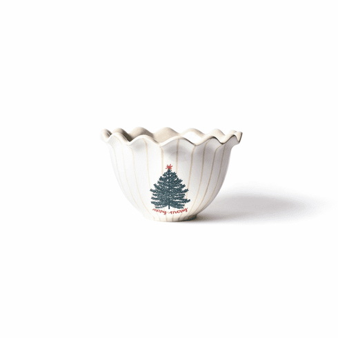 Happy Everything Merry Tree 9 Ruffle Bowl