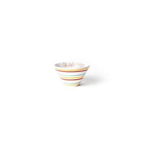 Happy Everything Multi Bright Stripe Oh Happy Day Mod Small Bowl