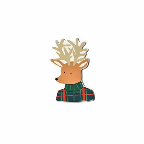 Happy Everything Plaid Reindeer Big Attachment