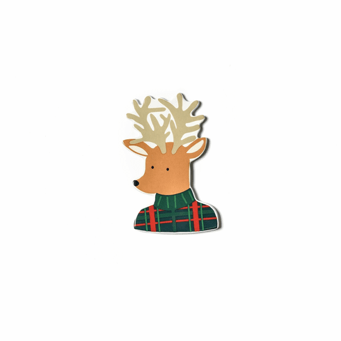 Happy Everything Plaid Reindeer Mini Attachment