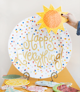 Happy Everything Plates and Home Decor with Attachments