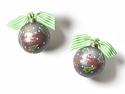 Happy Everything Rockin Around the Christmas Tree 100MM Glass Ornament