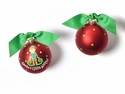 Happy Everything Santas Little Helper Boy 100MM Glass Ornament