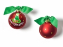 Happy Everything Santas Little Helper Girl 100MM Glass Ornament