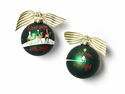 Happy Everything Silent Night 100MM Glass Ornament
