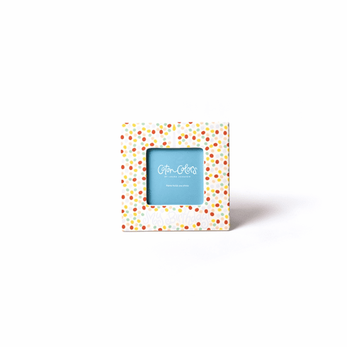 Happy Everything Small Dot Birthday 7 Square Frame Blue