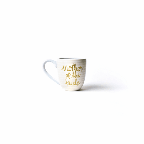 Happy Everything Stripe Mother of the Bride 4.25 Mug Ecru