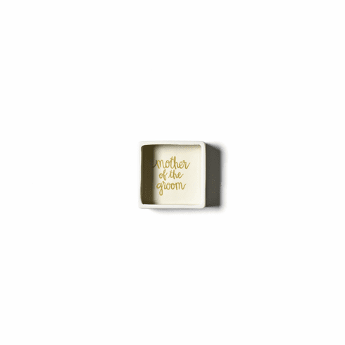 Happy Everything Stripe Mother of the Groom 3.5 Square Trinket Bowl Smoke