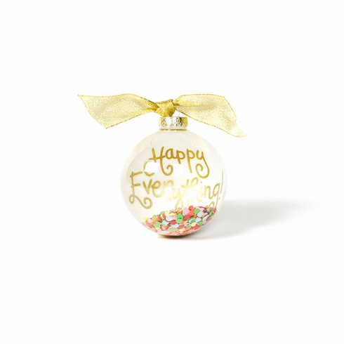 Happy Everything Toss 100MM Globe Glass Ornament