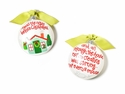 Happy Everything Twas the Night Before Christmas 90MM Glass Ornament