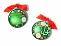 Happy Everything Visions of Sugarplums 90MM Glass Ornament
