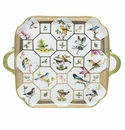 Herend Porcelain Birds Of Herend Tray 12.75L X 12.75W