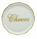 "Herend Porcelain Cheers Coaster 4""D"