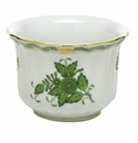 Herend Porcelain Chinese Bouquet Green Mini Cachepot 4.5L X 4.5H
