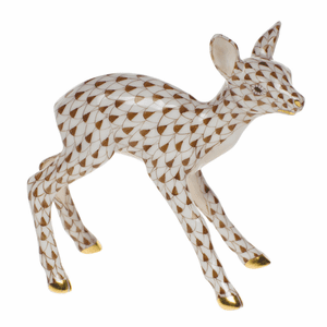 Herend Porcelain Deer Figurines