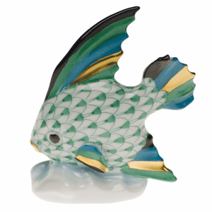Herend Porcelain Fish Figurines