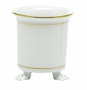 Herend Porcelain Golden Edge Mini Cachepot with Feet 3.75L X 4H