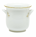 Herend Porcelain Golden Edge Mini Cachepot with Handles 4.75L X 3.75H